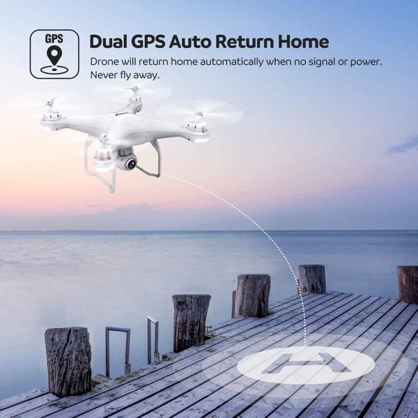 dron dual gps potensic volver a casa