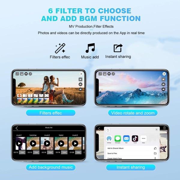 drone 5 funciones de filtro multiples