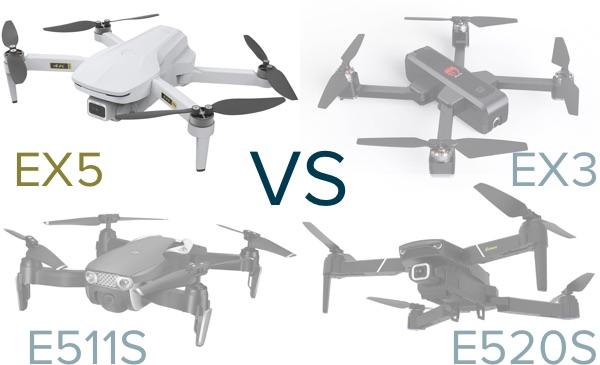 eachine EX5 vs EX3 vs E511 vs E520S
