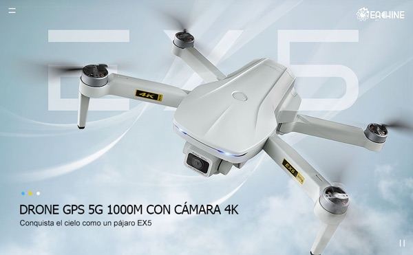 ex5 dron pequeño profesional