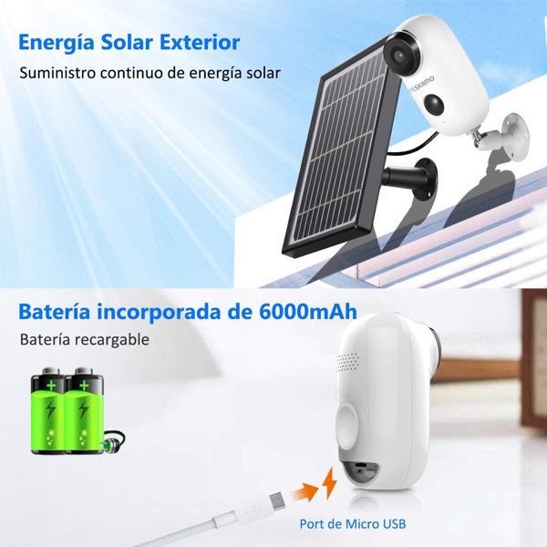 camara energia solar para exterior